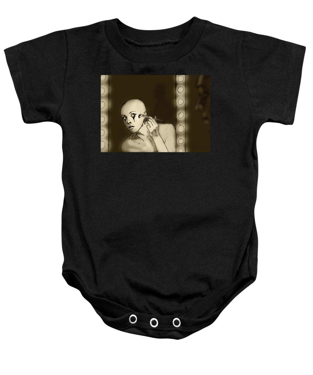 Acrobat Baby Onesie featuring the digital art Making Up by H James Hoff