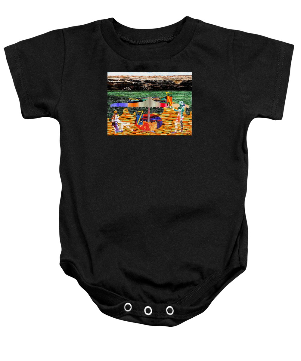 Fine Art Baby Onesie featuring the painting The Beach by Patrick J Murphy