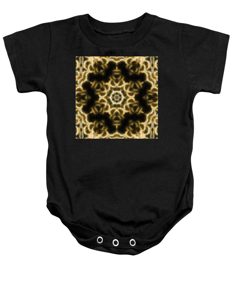 Baby Onesie featuring the photograph Mandala76 by Lee Santa