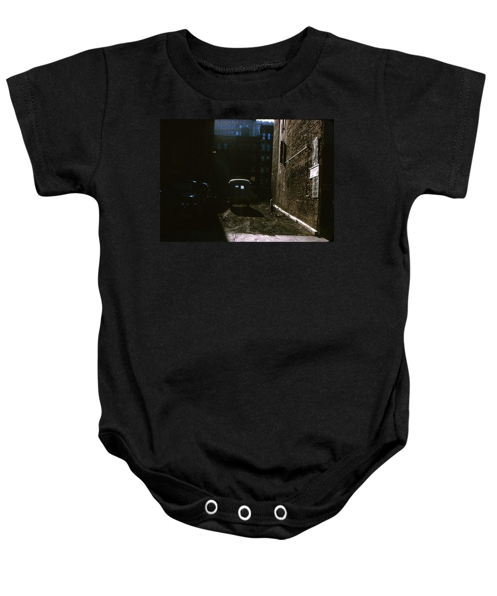 Lower East Side Manhattan Baby Onesie featuring the photograph Manhattan Mystery by Ira Shander