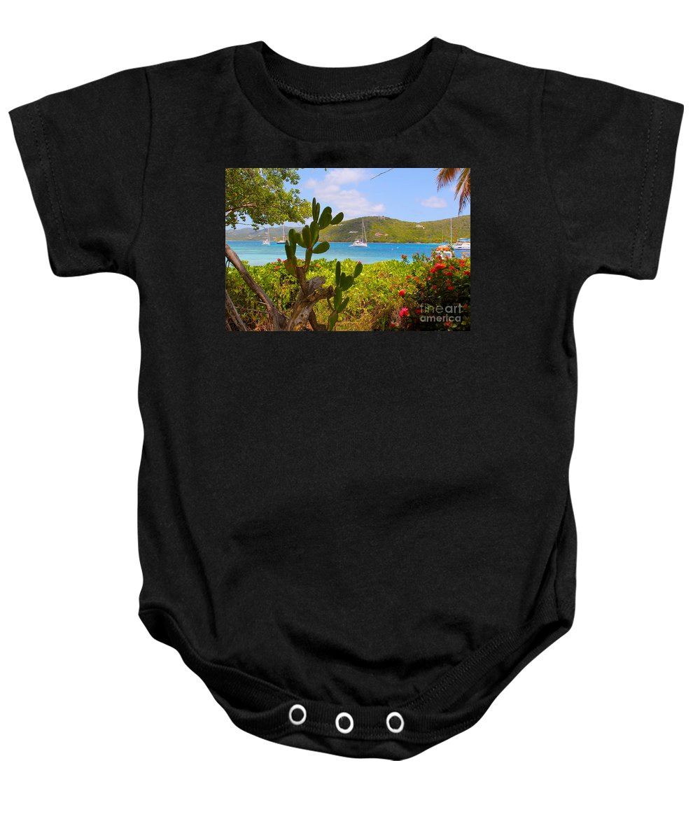 Baths Baby Onesie featuring the photograph Marina Cay View by Carey Chen