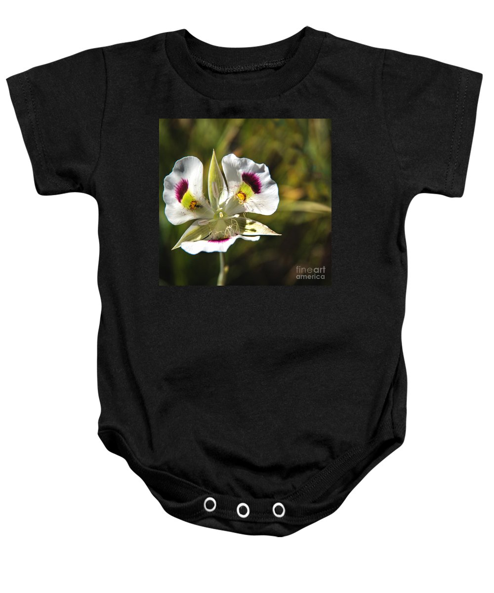Wild Flowers Baby Onesie featuring the photograph Mariposa Lily by Robert Bales
