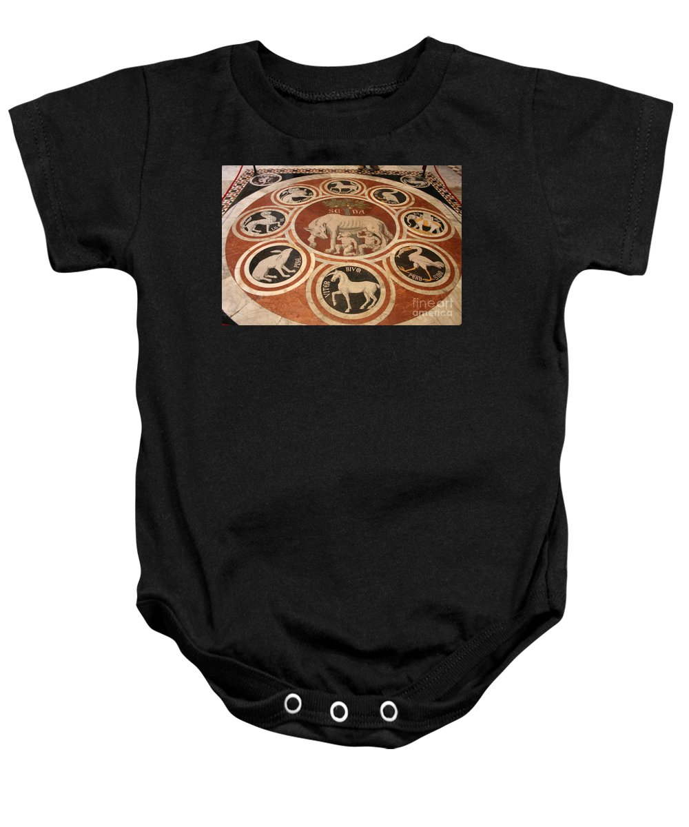 Floor Baby Onesie featuring the photograph Marple Floor - Cathedral Siena by Christiane Schulze Art And Photography