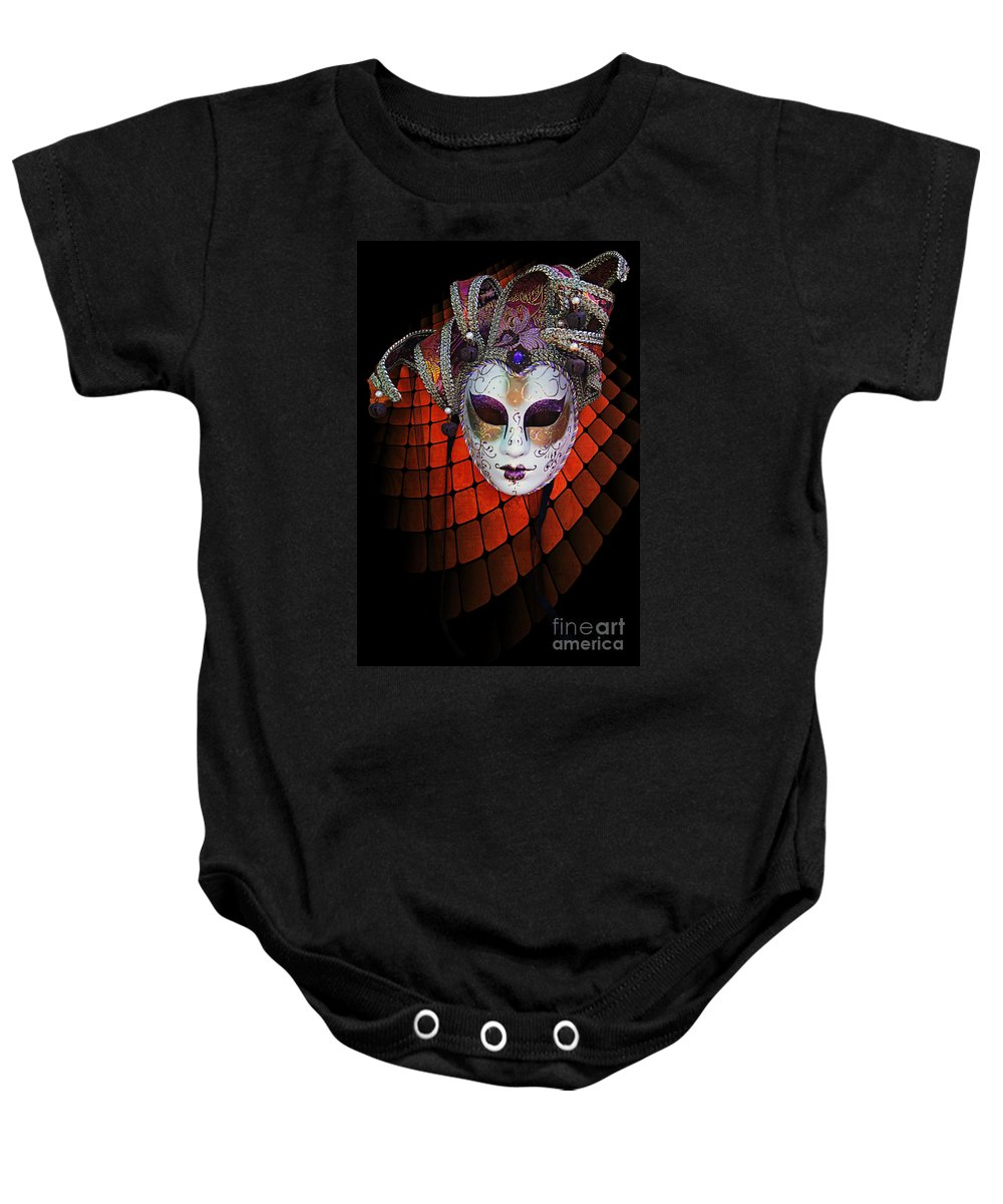 Mask Baby Onesie featuring the photograph Mask 1 by Ben Yassa