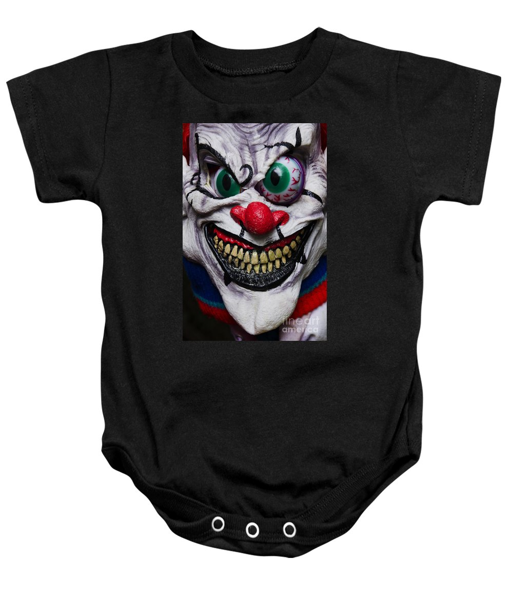 Mask Baby Onesie featuring the photograph Masks Fright Night 6 by Bob Christopher