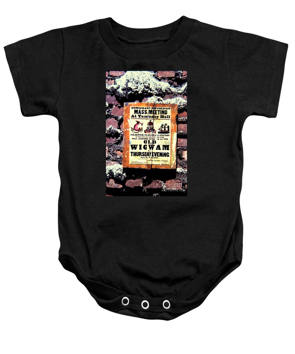 Tammany Hall Baby Onesie featuring the photograph Mass Meeting At Tammany Hall by John Greco