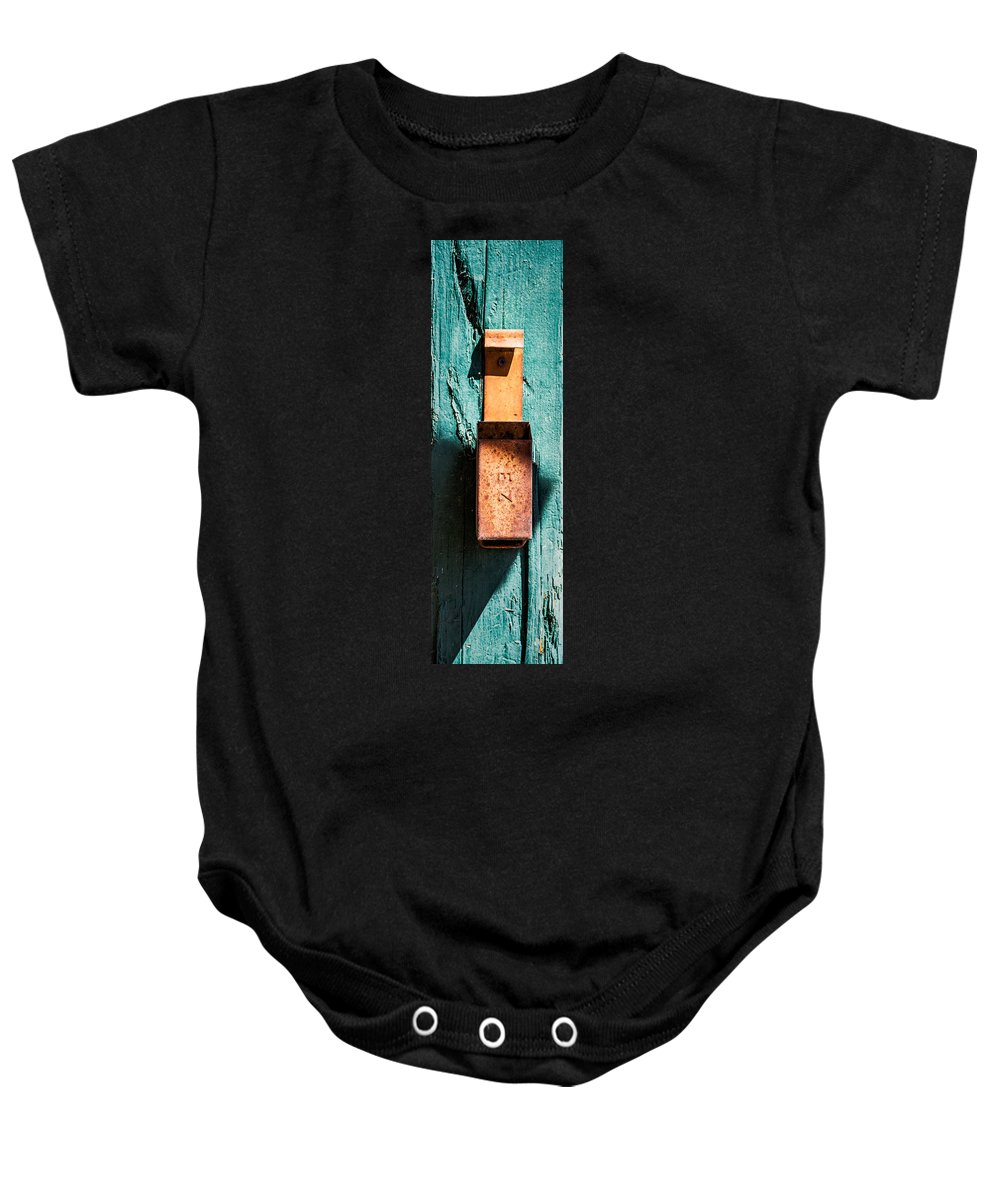 Techatticup Gold Mine Baby Onesie featuring the photograph Match Box by Onyonet Photo Studios