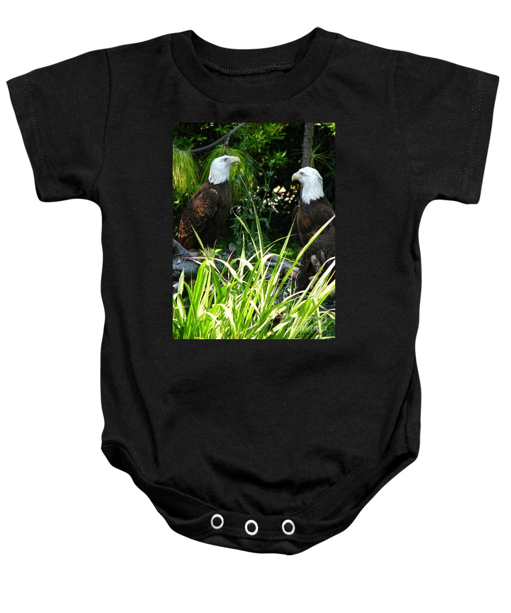 Patzer Baby Onesie featuring the photograph Mates by Greg Patzer