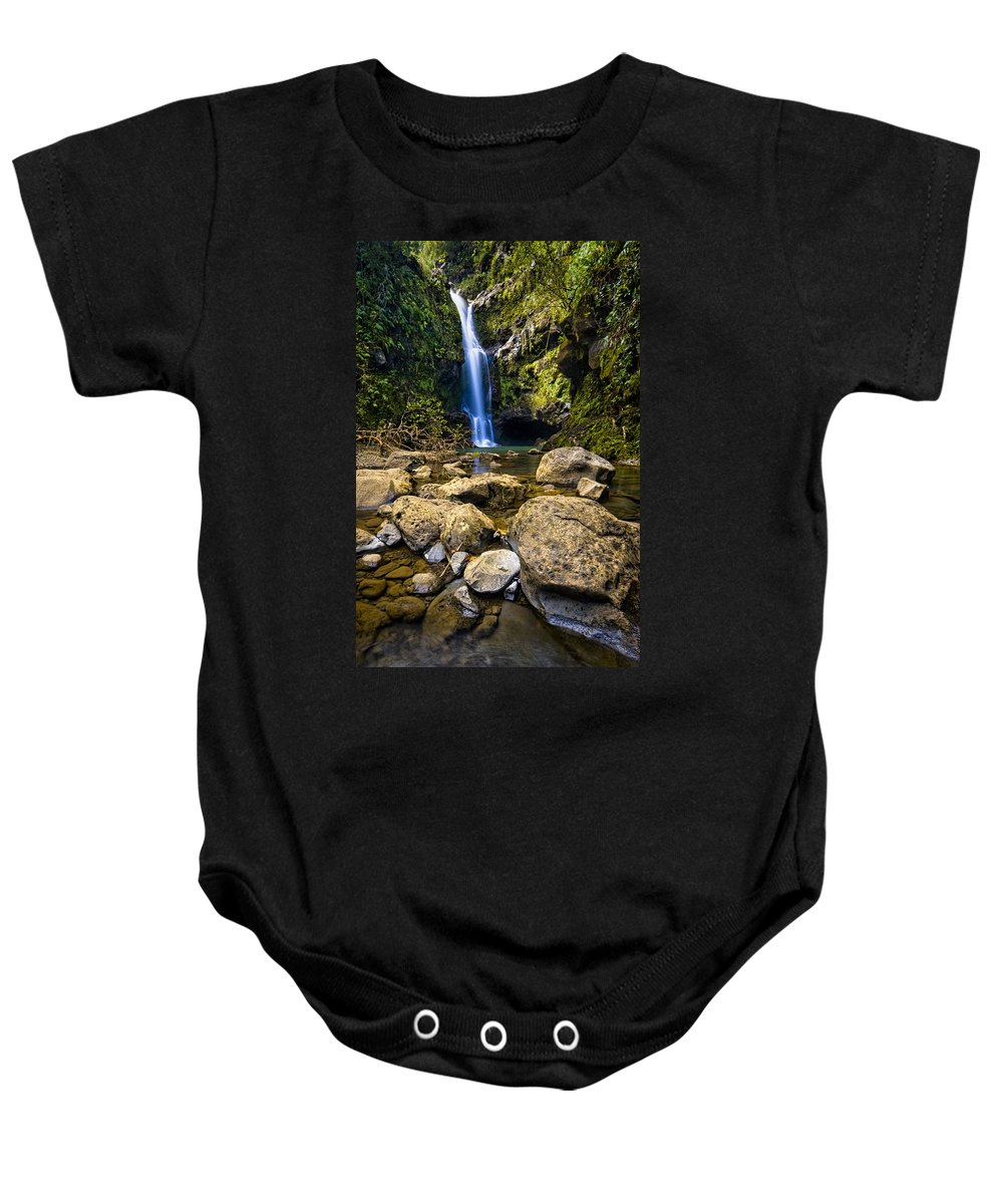 3scape Photos Baby Onesie featuring the photograph Maui Waterfall by Adam Romanowicz