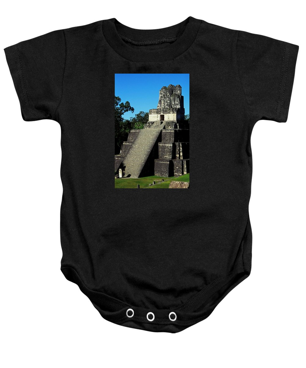 Guatemala Baby Onesie featuring the photograph Mayan Ruins - Tikal Guatemala by Juergen Weiss