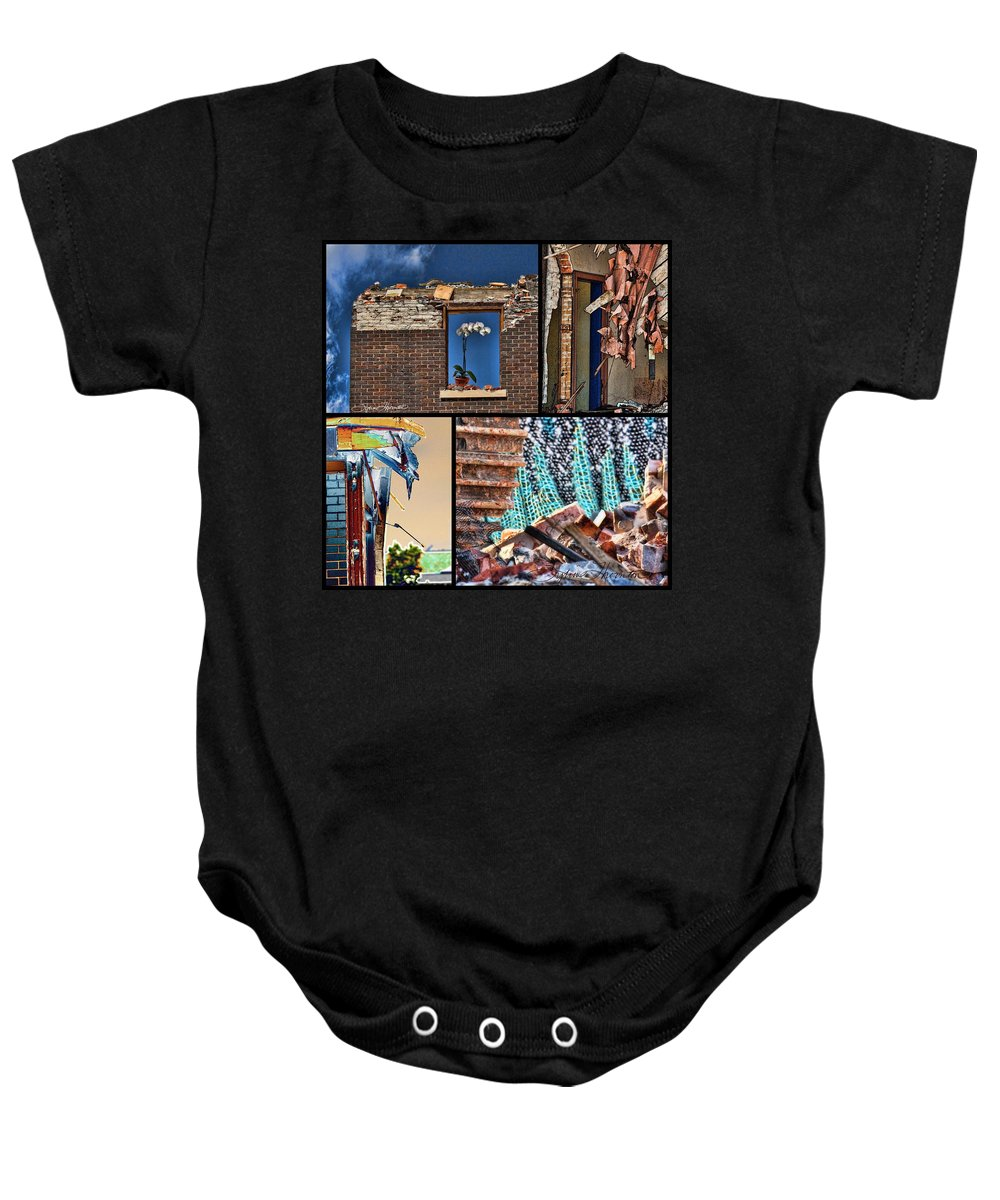 Mcdaid Baby Onesie featuring the photograph Mcdaid Collage by Sylvia Thornton