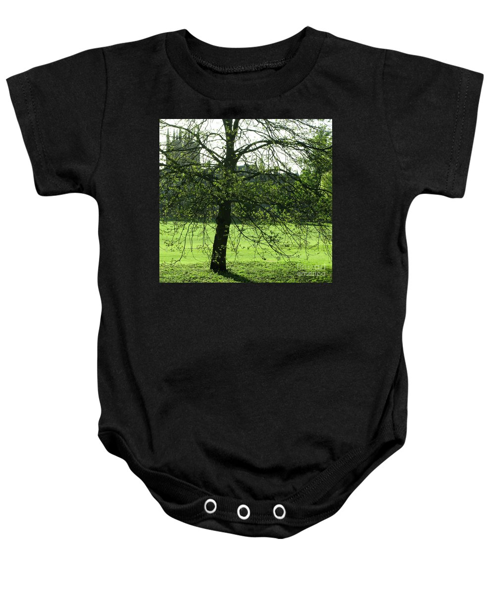 Oxford University Baby Onesie featuring the photograph Meadow View by Ann Horn