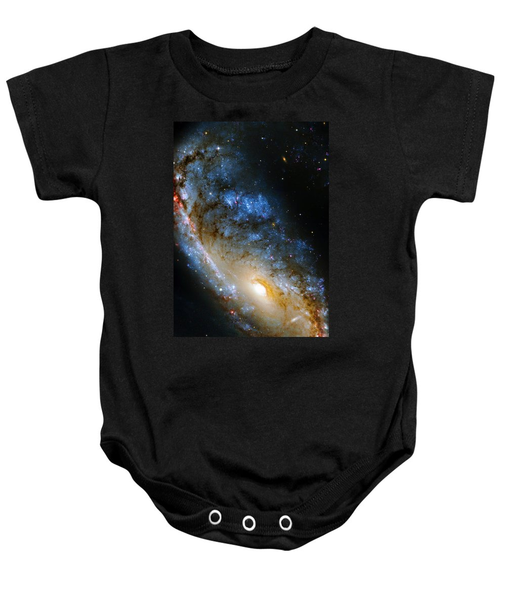 Ngc Baby Onesie featuring the photograph Meathook Galaxy by Ricky Barnard