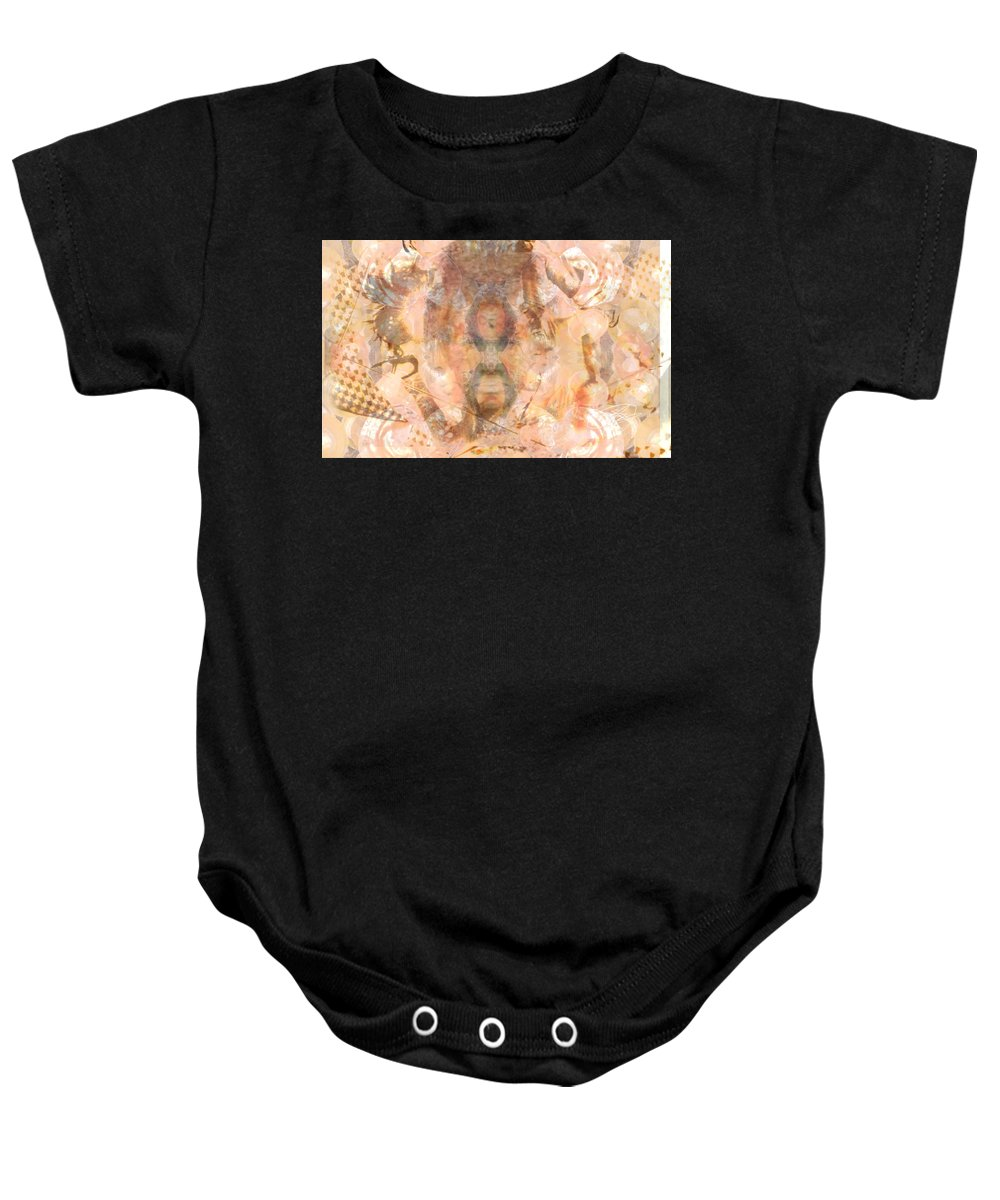 Tribal Art Baby Onesie featuring the photograph Melting Mer Tribe by Deprise Brescia
