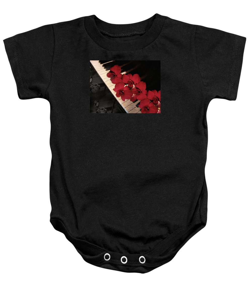 Vintage Baby Onesie featuring the photograph Memories Of The Music Lovers - Vintage Style by Georgiana Romanovna