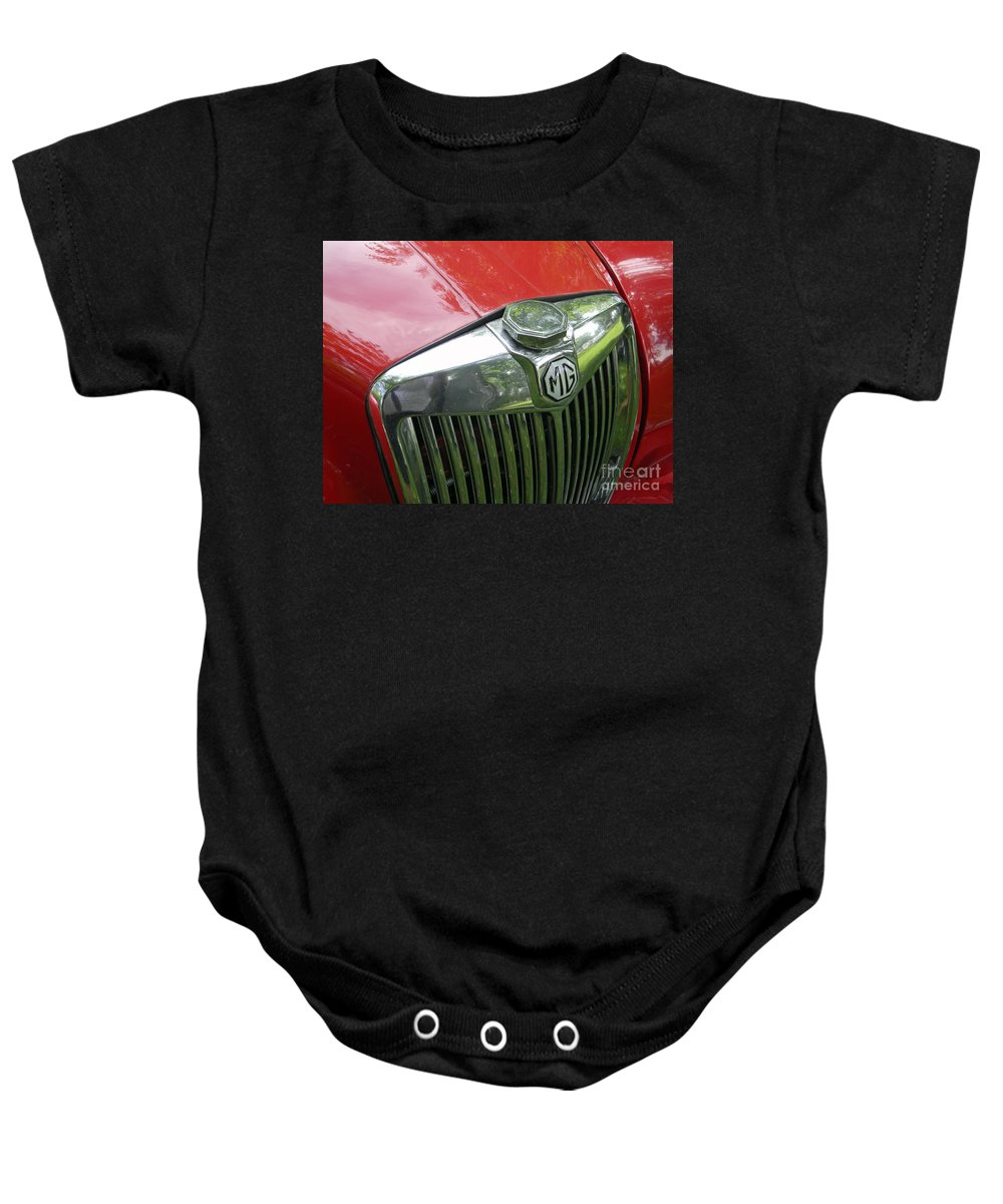 Mg Baby Onesie featuring the photograph Mg Magnette by Neil Zimmerman