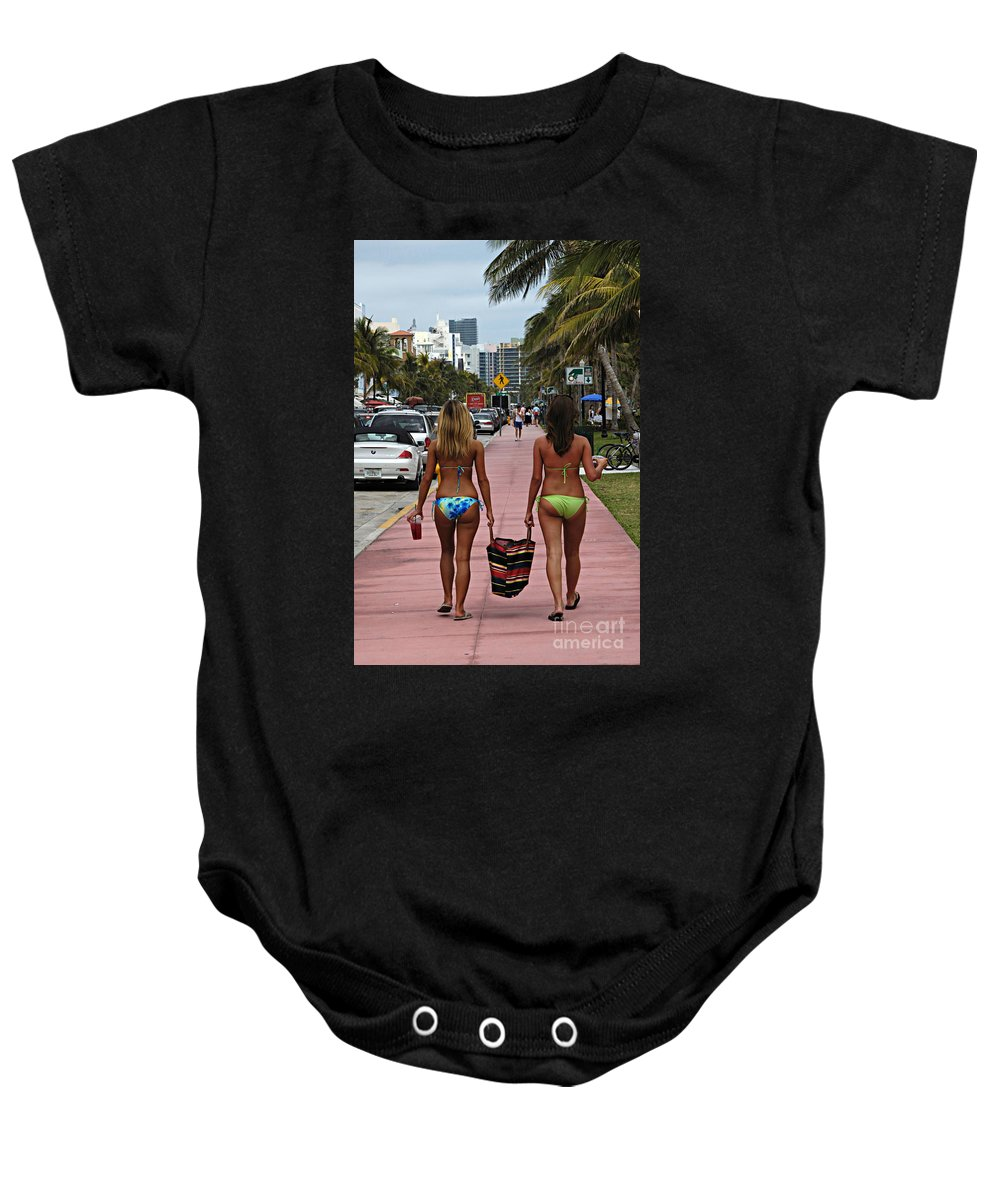 Girls Baby Onesie featuring the photograph Miami Vice by Bob Christopher