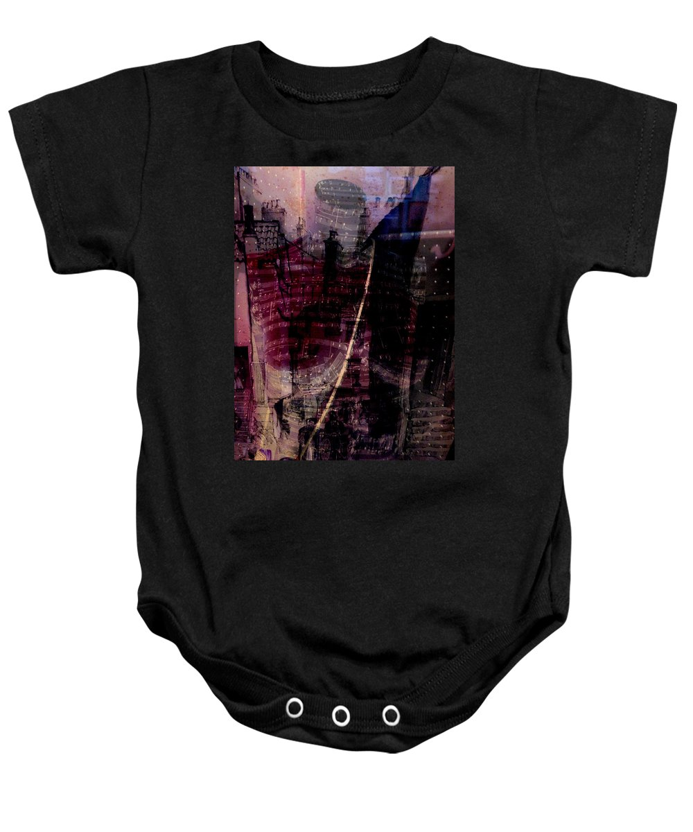 Abstract Baby Onesie featuring the photograph Midnights Grapes by The Artist Project