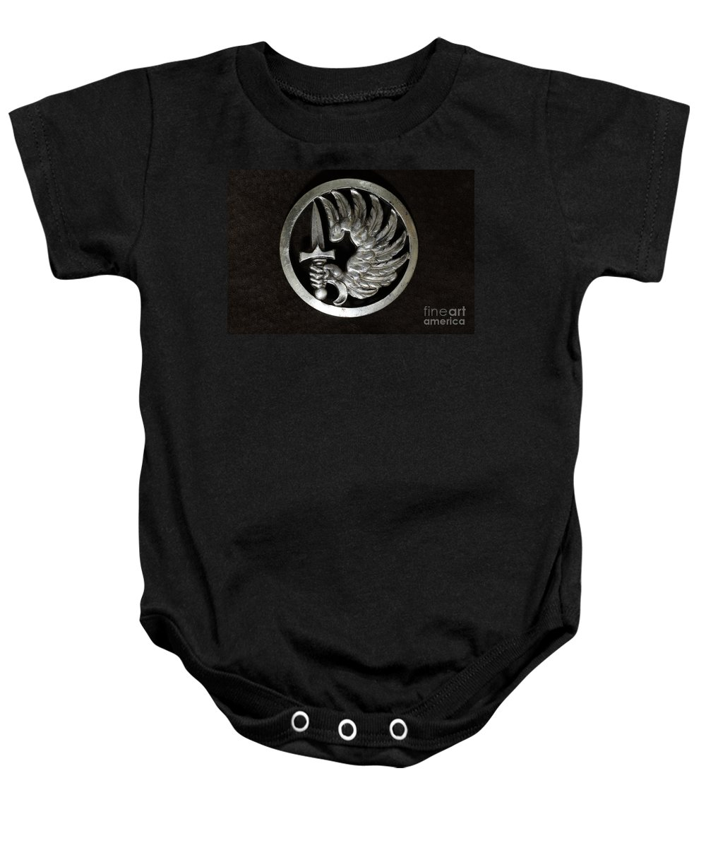 Paul Ward Baby Onesie featuring the photograph Military - French Foreign Legion Insignia by Paul Ward