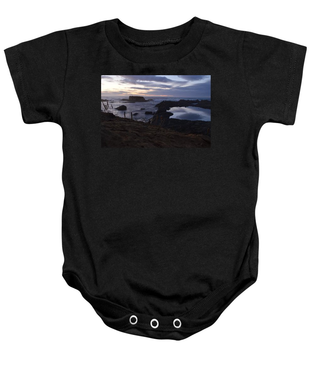 Glass Beach Baby Onesie featuring the photograph Mirror At Glass Beach by Along The Trail