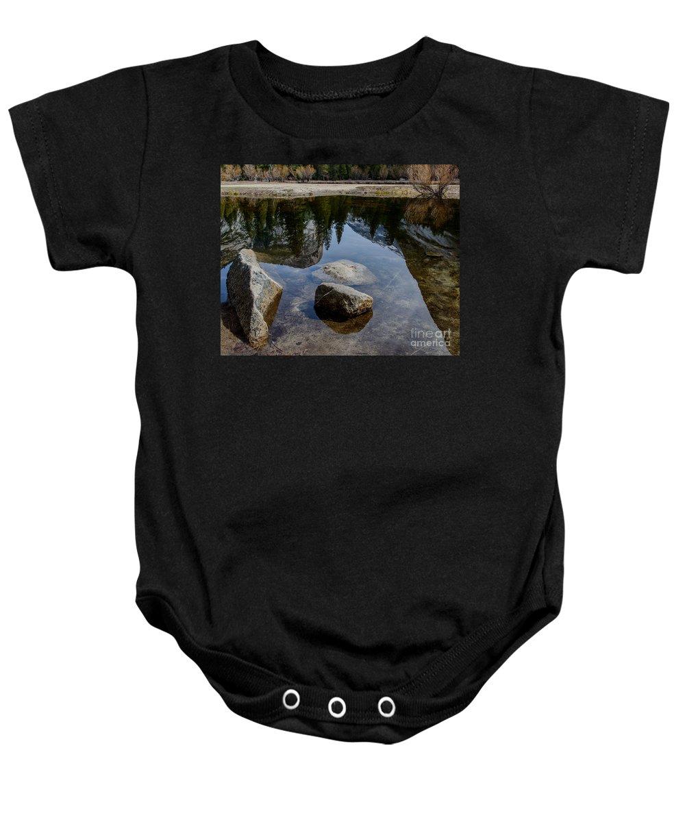 Yosemite Baby Onesie featuring the photograph Mirror Lake Threesome 2 Yosemite by Terry Garvin