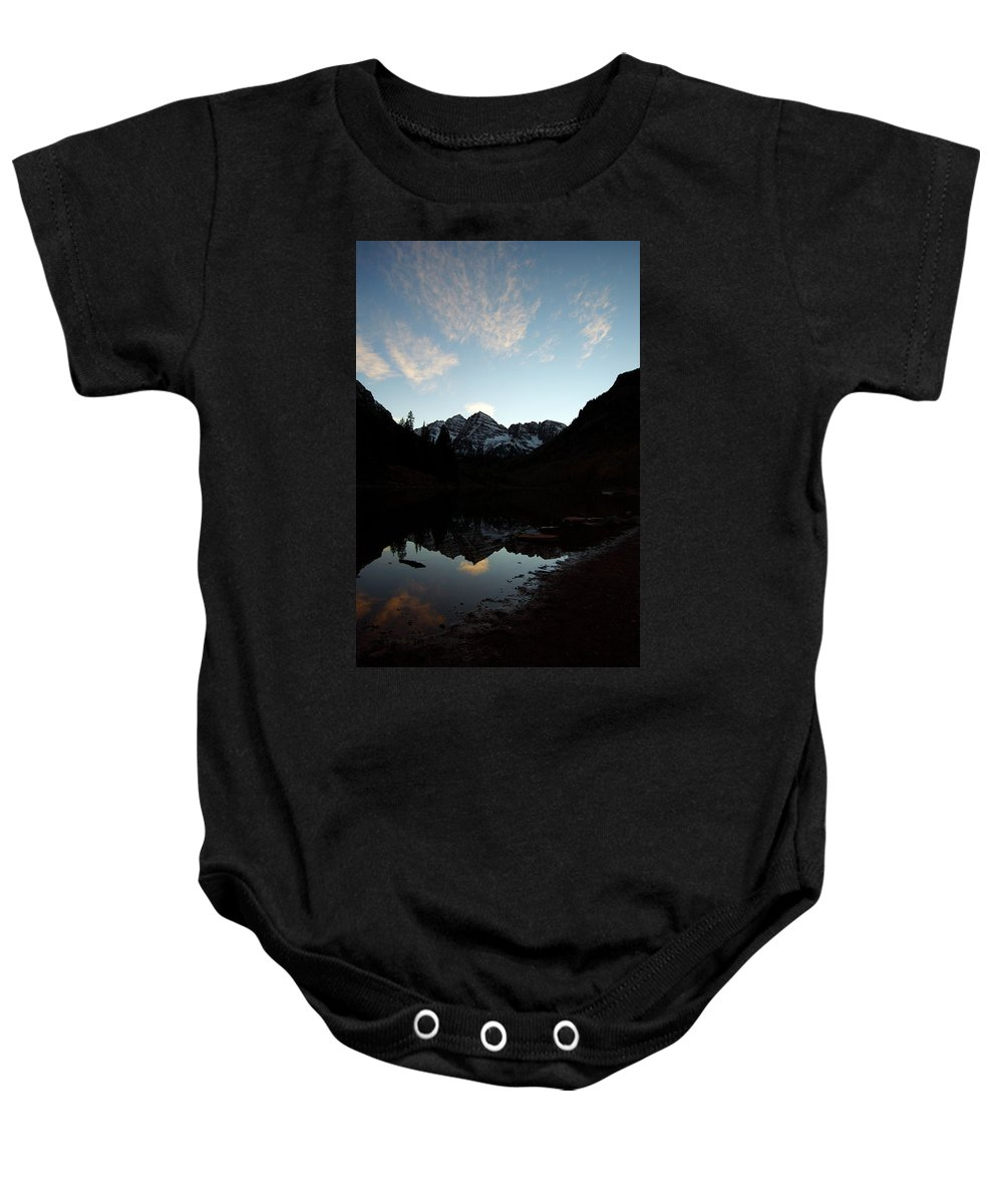 Jeremy Rhoades Baby Onesie featuring the photograph Mirrored Bells by Jeremy Rhoades