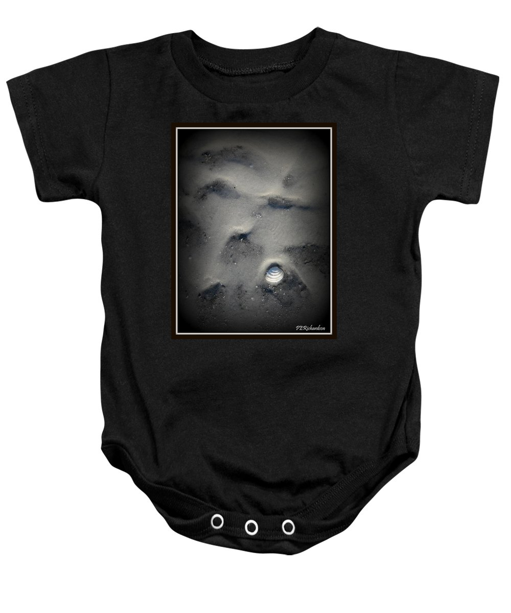 Misanthropic Baby Onesie featuring the photograph Misanthropic by Priscilla Richardson