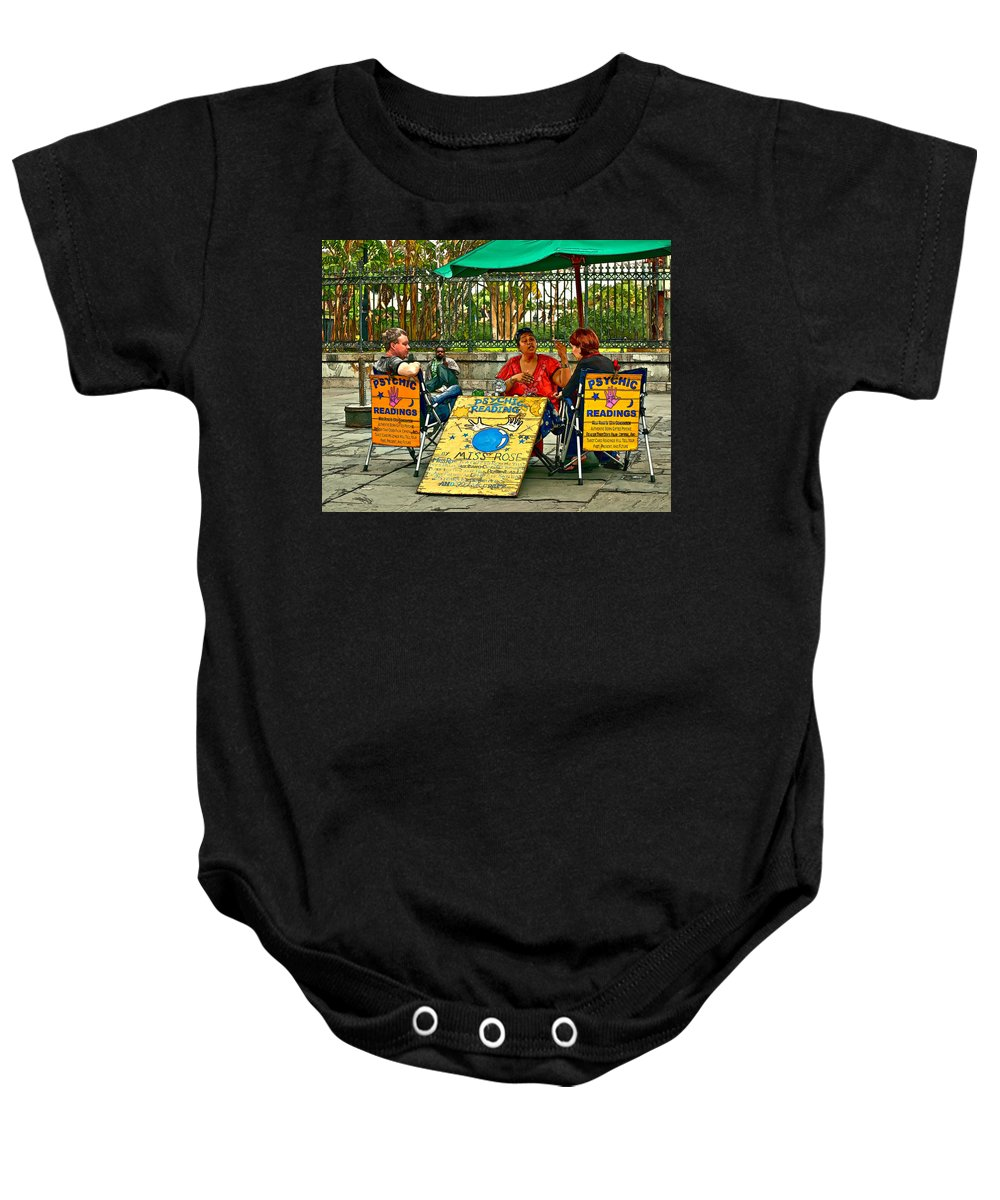 French Quarter Baby Onesie featuring the photograph Miss Rose Has An Insight Paint by Steve Harrington