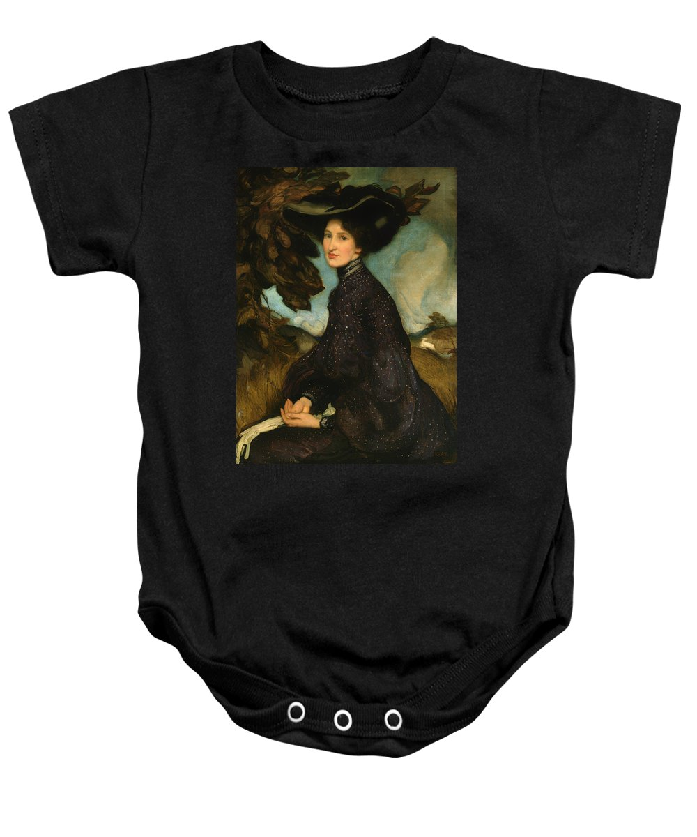 Painting Baby Onesie featuring the painting Miss Thea Proctor by Mountain Dreams