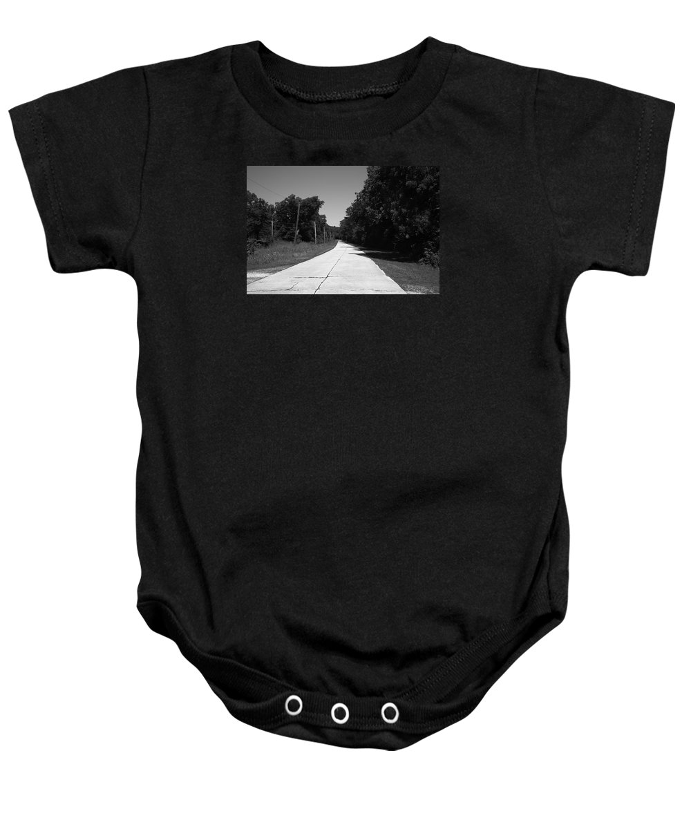 66 Baby Onesie featuring the photograph Missouri Route 66 2012 Bw by Frank Romeo