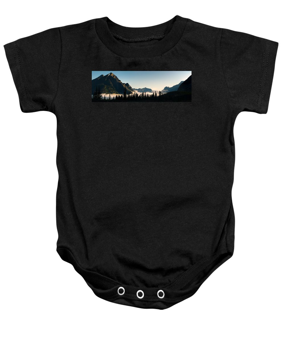 Alberta Baby Onesie featuring the photograph Misty Morning by Brandon Smith