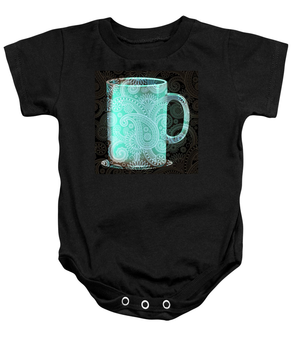 Mm Baby Onesie featuring the mixed media Mm Mm Good 3 by Angelina Vick
