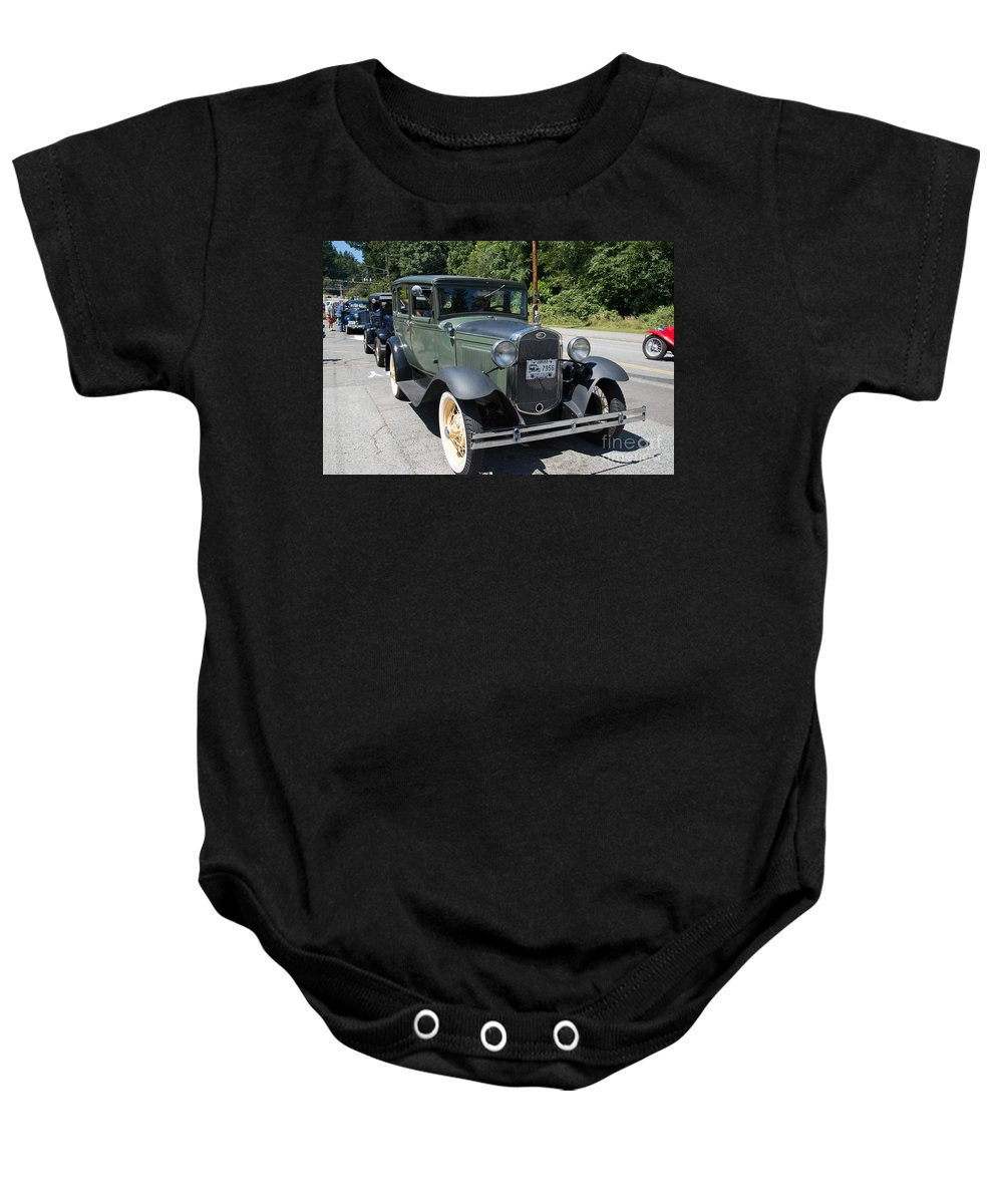 Bowen Island Baby Onesie featuring the digital art Model A by Carol Ailles