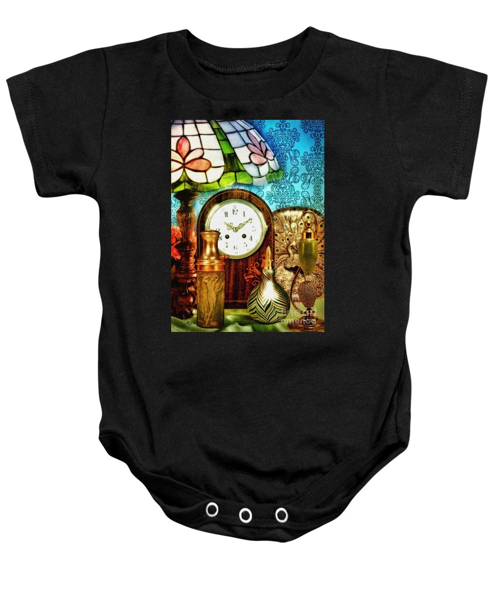 Moment In Time Baby Onesie featuring the photograph Moment In Time by Mo T
