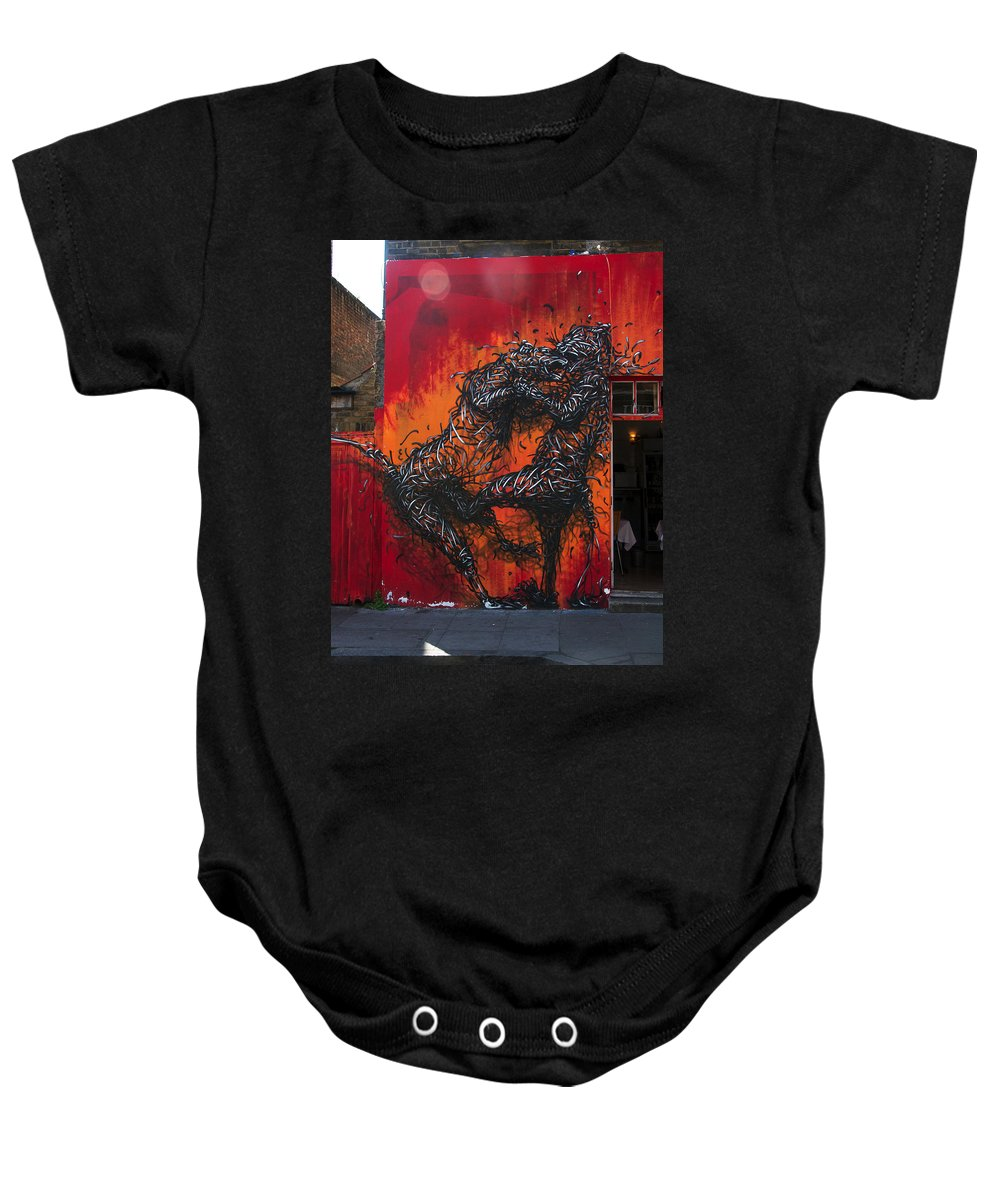 Street Art Baby Onesie featuring the photograph Monster Brawl by David Resnikoff