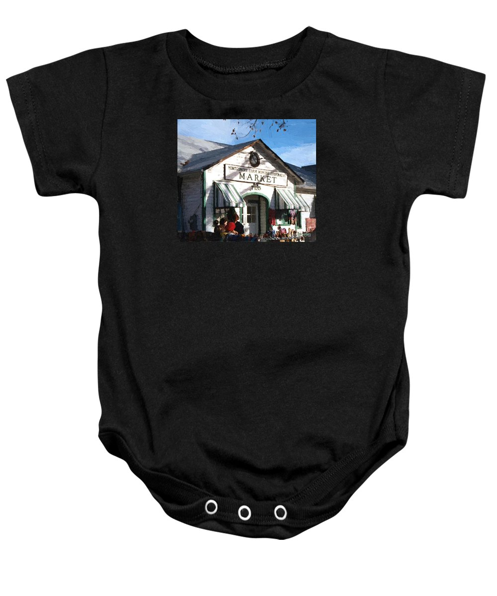 Americana Baby Onesie featuring the painting Montgomery County Market by RC DeWinter