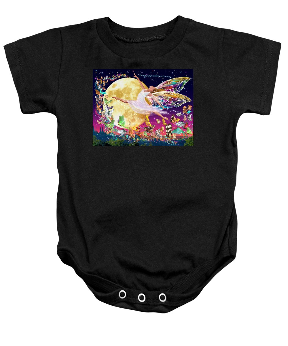 Fairy Baby Onesie featuring the photograph Moon Fairy Variant 1 by Garry Walton