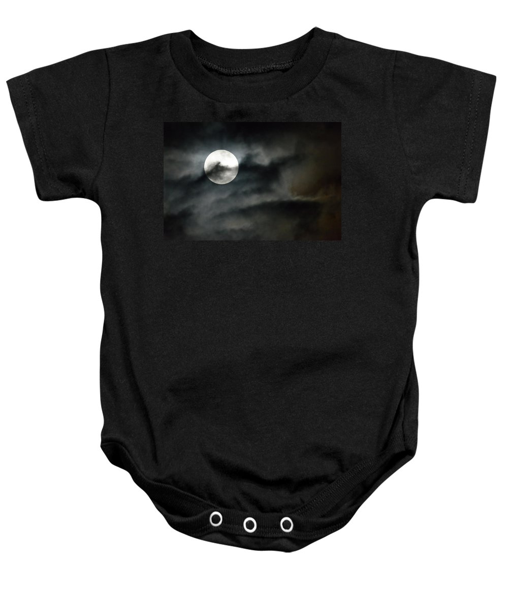 Moon Baby Onesie featuring the photograph Moonlit Dreams by Fotosas Photography