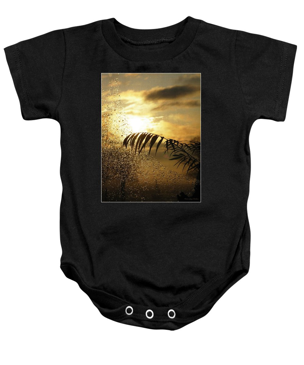 Morning Baby Onesie featuring the photograph Morning Dew Screen by Joyce Dickens