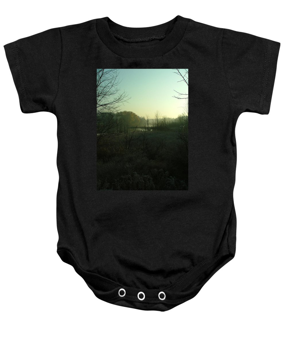 Landscape Baby Onesie featuring the photograph Morning Fog by Dennis Pintoski