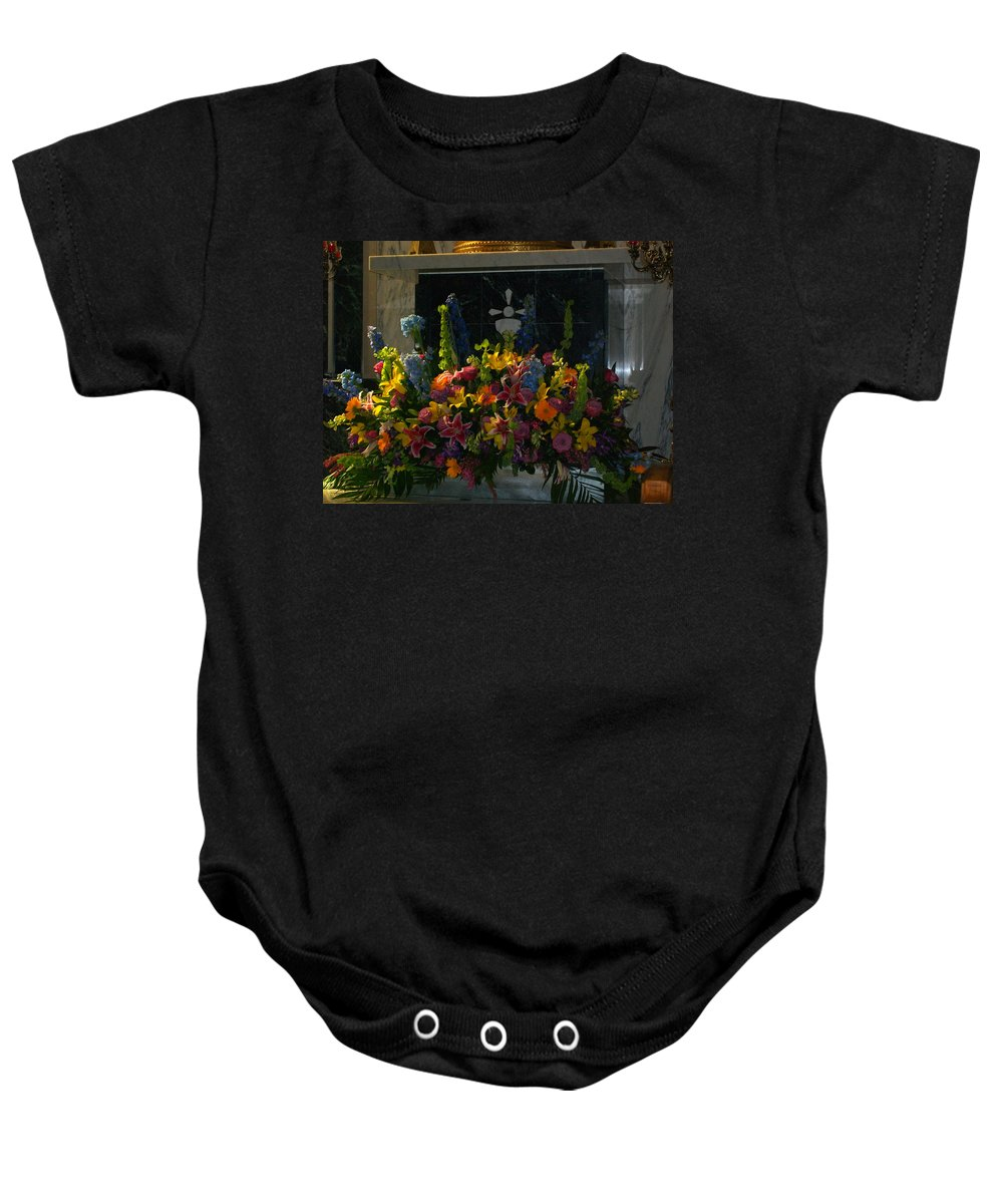 Baby Onesie featuring the photograph Morning Glory II by Laurette Escobar