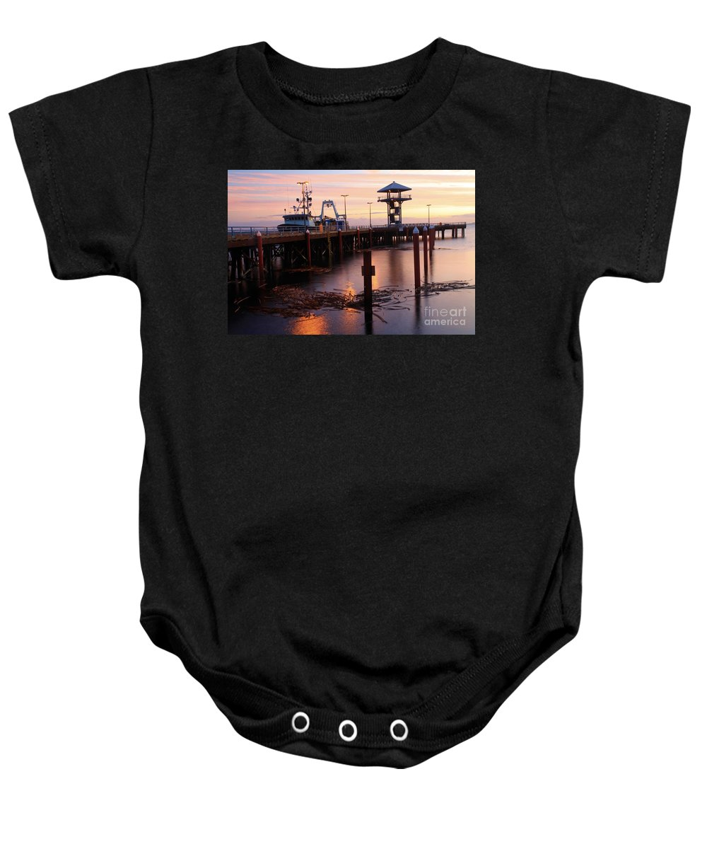 Port Angles Baby Onesie featuring the photograph Morning Light At Port Angeles by Adam Jewell