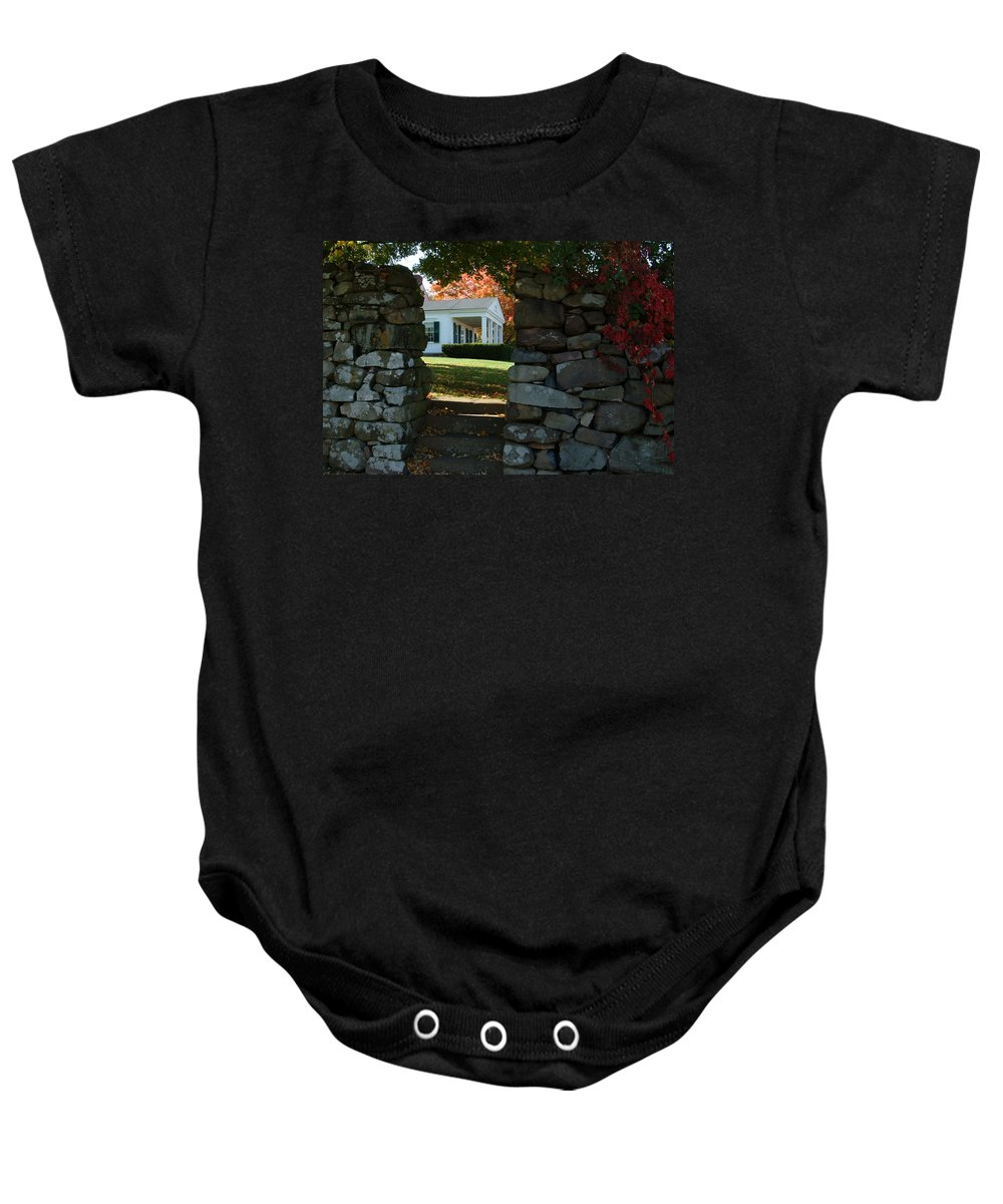 Morning Room Baby Onesie featuring the photograph Morning Room by Robert DeFosses