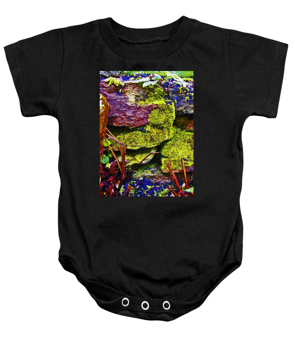 Expressive Baby Onesie featuring the photograph Moss by Lenore Senior