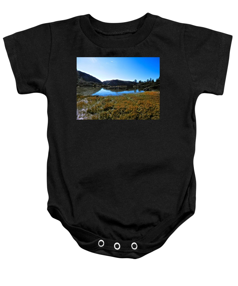 Beautiful Baby Onesie featuring the photograph Mountain Marshes 3 by Joe Wyman