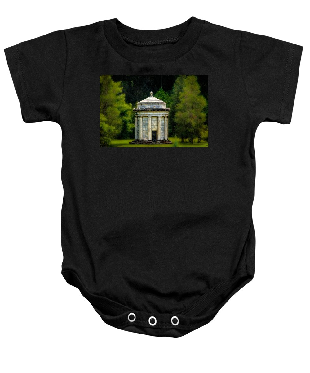 Mausoleum Baby Onesie featuring the photograph Mouseoleum by Chris Lord