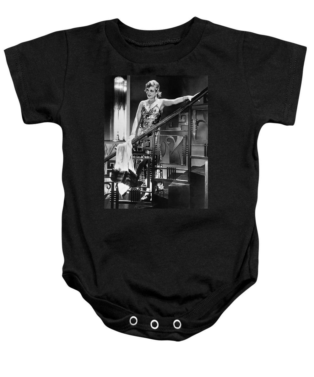 1929 Baby Onesie featuring the photograph Movie Star Olga Baclanova by Underwood Archives