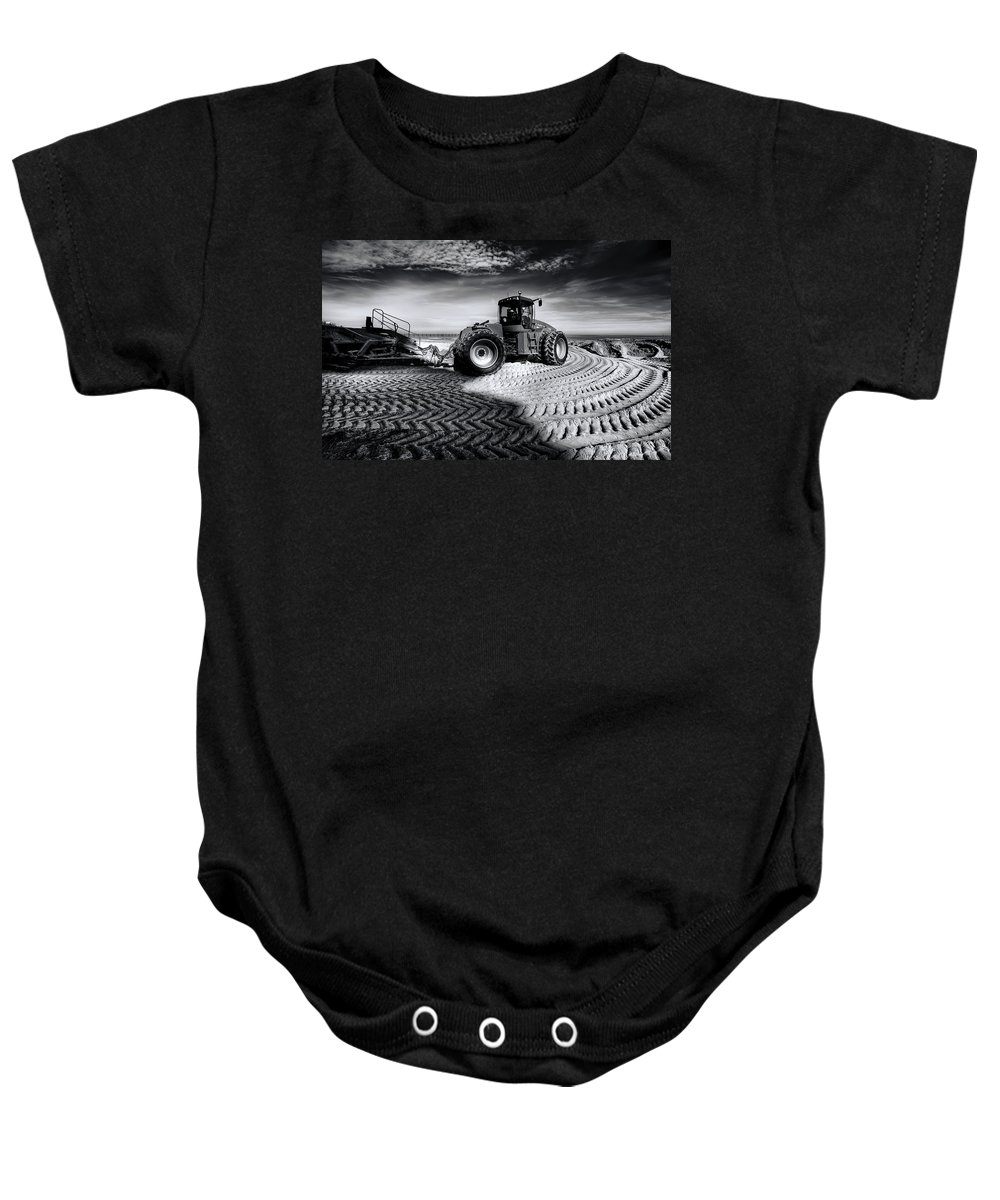 Dredge Baby Onesie featuring the photograph Moving Heaven And Earth by Wayne Sherriff