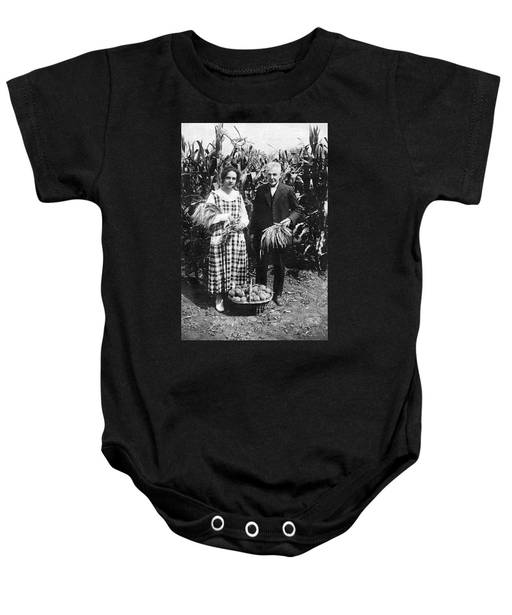 1920 Baby Onesie featuring the photograph Mr. And Mrs. Luther Burbank by Underwood Archives