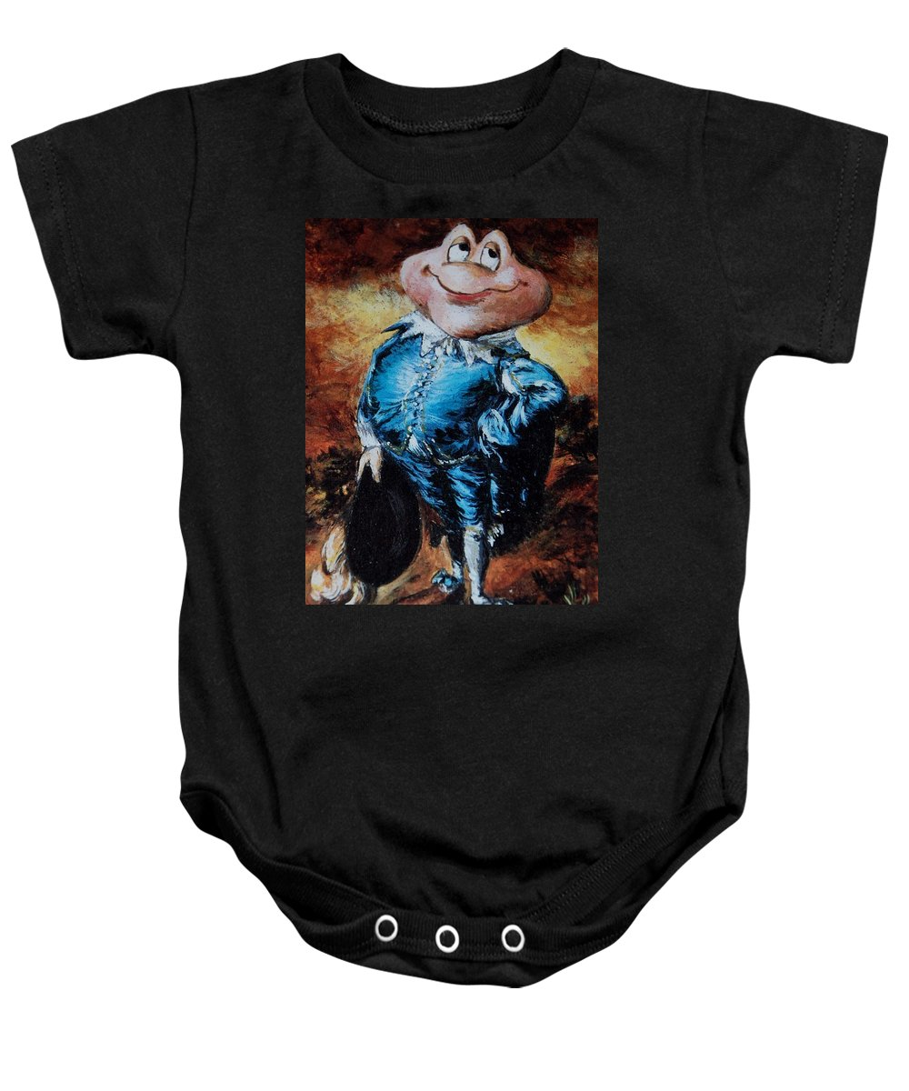 Mr Toad Baby Onesie featuring the photograph Mr Toad by Rob Hans